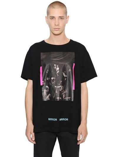 441ee407e0f5 OFF-WHITE CARAVAGGIO PRINTED COTTON JERSEY T-SHIRT