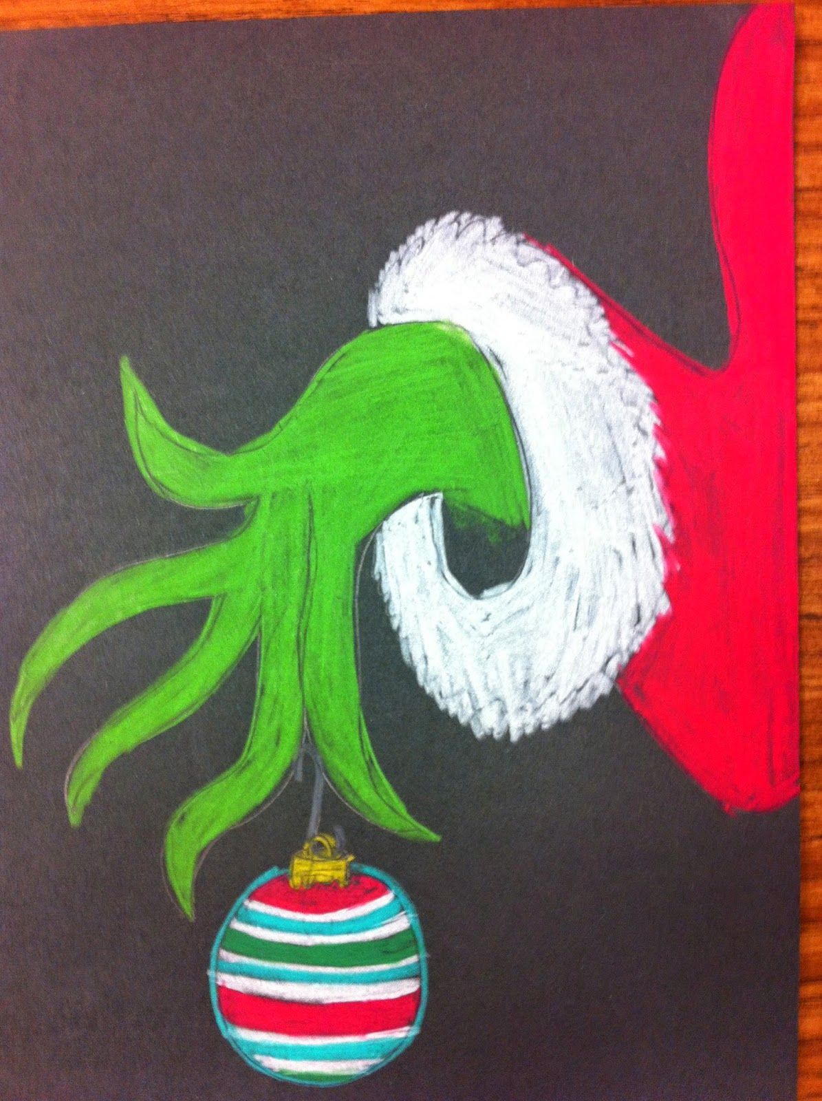 The Grinch Who Stole Christmas Christmas Chalkboard