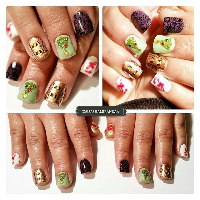 Thank you hand-model @sylviablah  for posing for photoshots ;) #nailart #nailart2015 #nails #manicure #gelmanicure #uvgelnails #christmasnails #nailtechnician #unasdecoradas #unas #uñasdegel #manicura #kleancolors #miasecret #pueencosmetics #winstoniastore #nabicosmetics #lacolorsofficial #nailstamping #nailartstamping