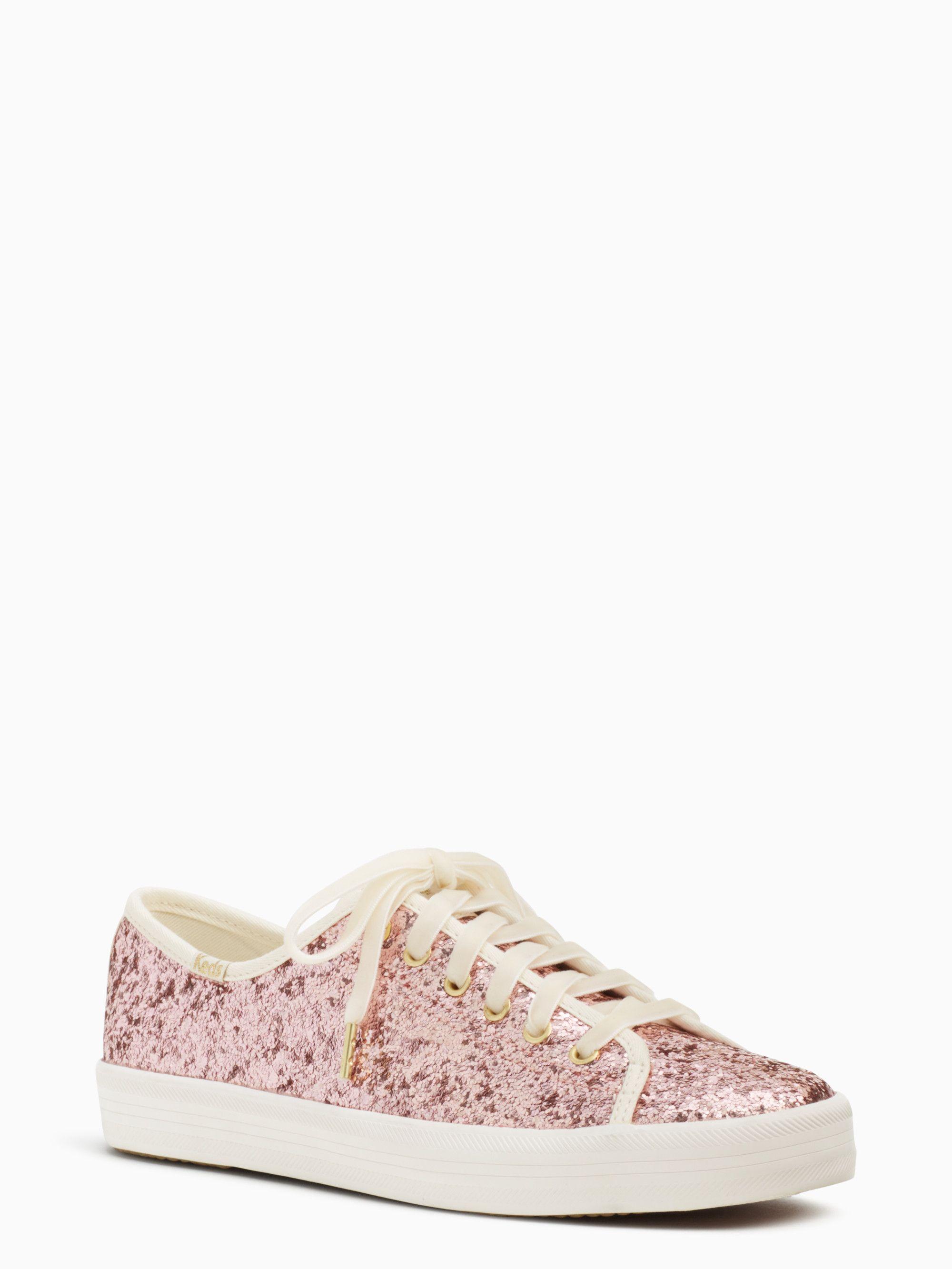 Pink sparkle shoes, Kate spade keds