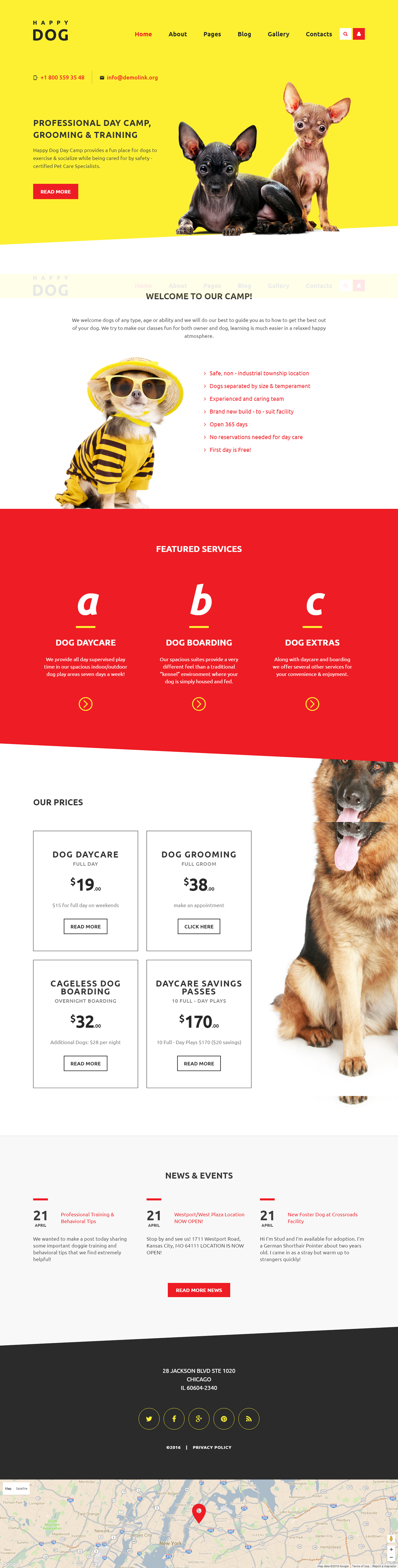 Dogs Responsive Joomla Template ✓ Website 58559. Buy Dogs Joomla ...