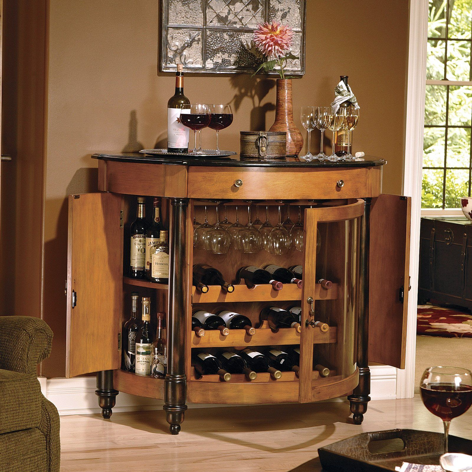 Howard Miller 695016 Merlot Valley Wine U0026 Bar Console   Home Furniture  Showroom Like The Function, Maybe Not The Style Too Much