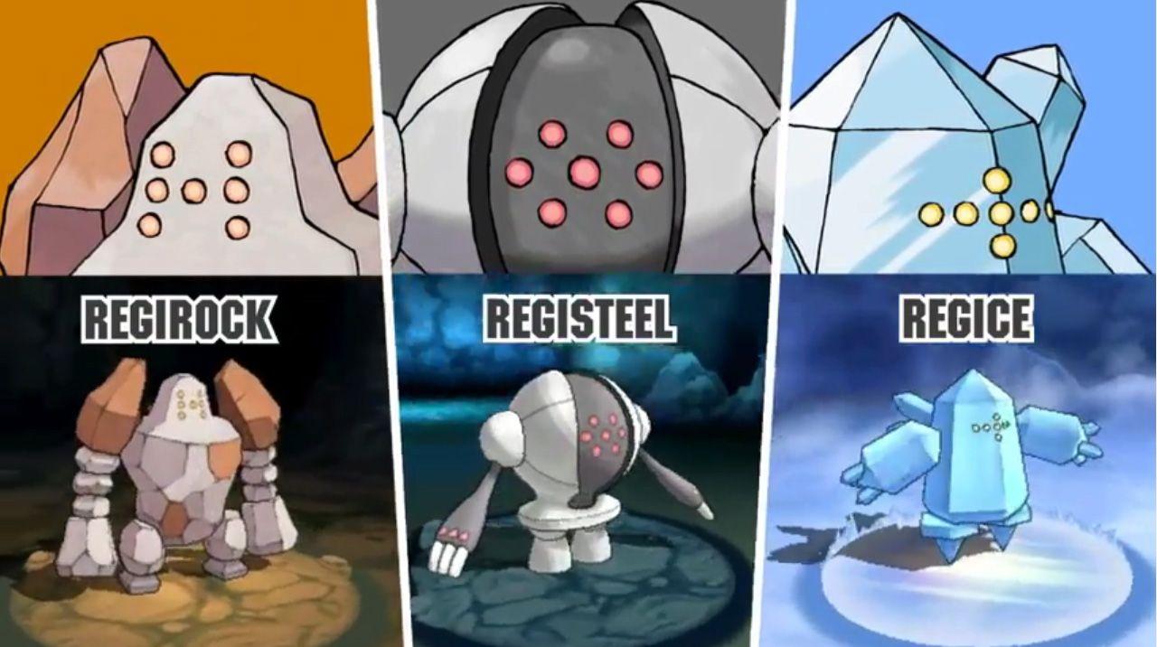 Regirock Registeel And Regice Will Catchable In Pokemon