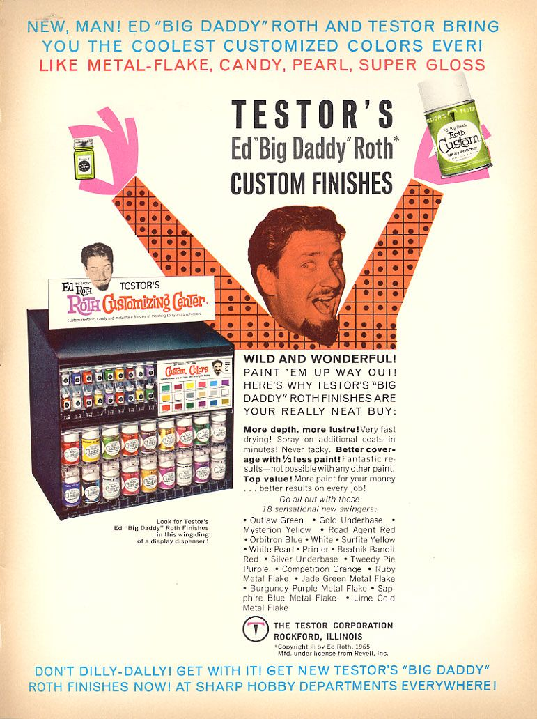 Advertisement for Testors Paint products, Ed