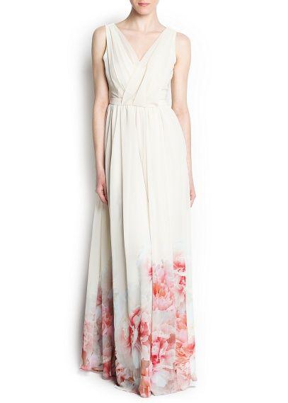 Kleid mit geblümtem Saum   Saum, Alltagstaugliches und Sommerkleider