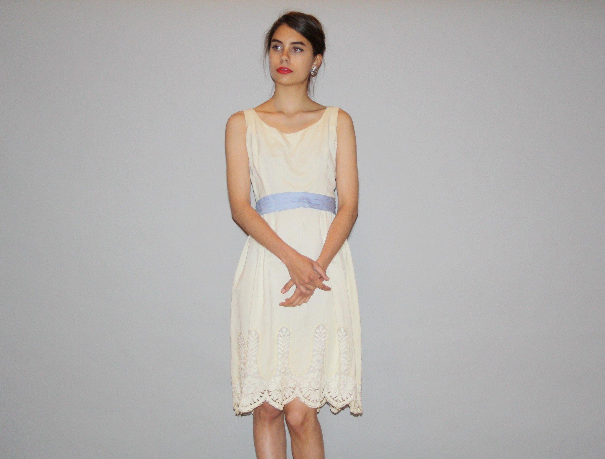 Designer anne klein s rare ivory crochet lace informal short