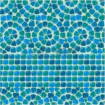 mander nahtlose mosaik muster blau keramikfliesen klassische geometrische ornament direkt zum swatch verwenden - Mosaik Muster