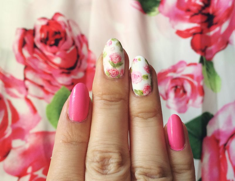 Nailpolis Museum of Nail Art | Pink floral rose nails by Michelle L.