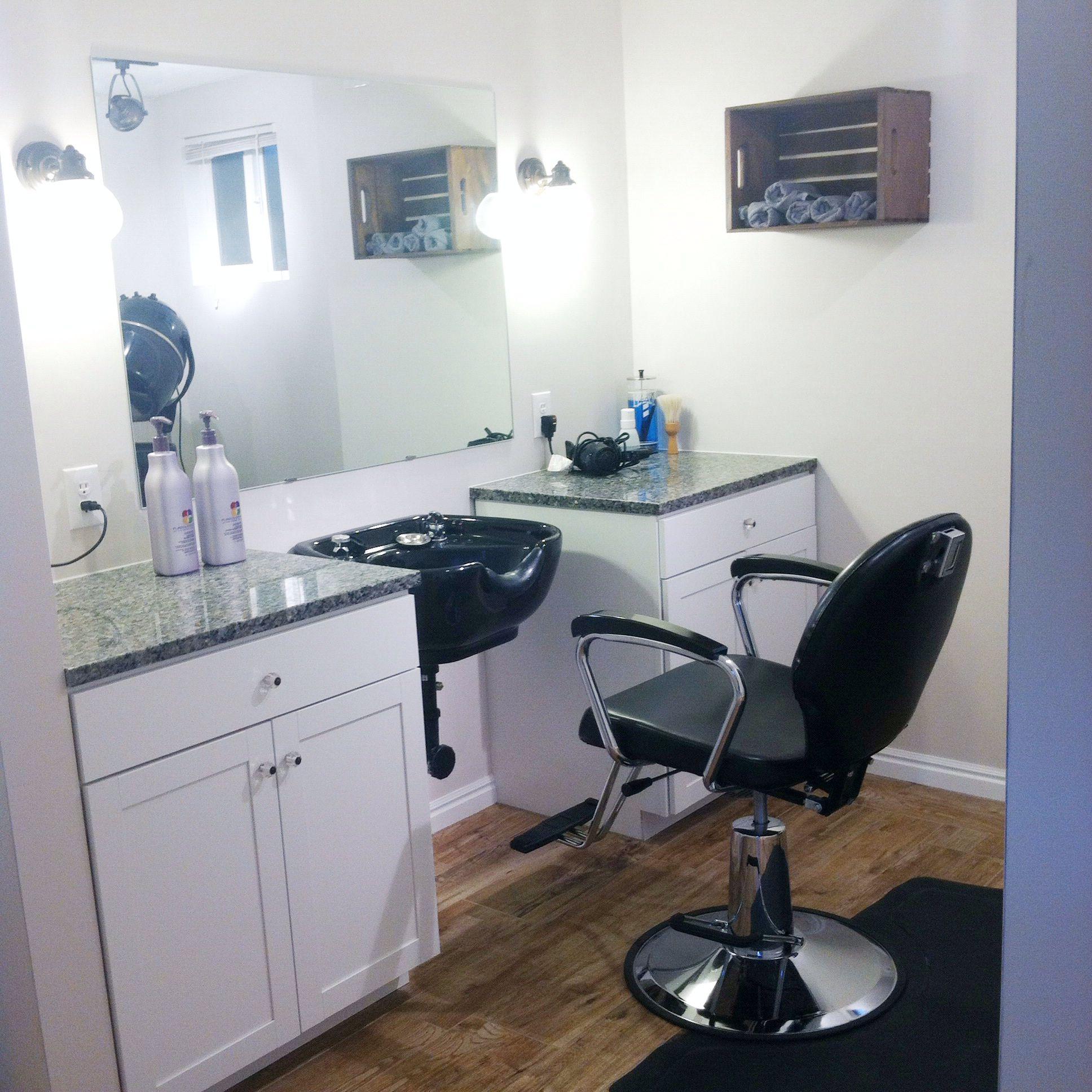 Small home hair salon! Home hair salons, Small beauty