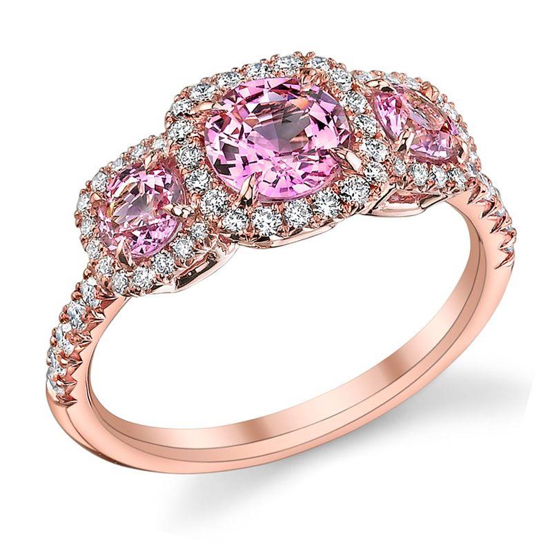 rose gold pink diamond engagement rings - Pink Diamond Wedding Rings