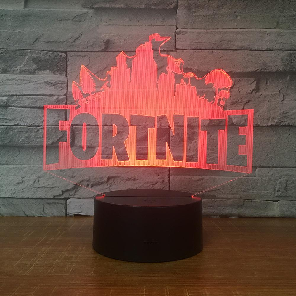 Fortnite Led 3d Illusion Lamp Optical Led Desk Lighting Christmas Gift 3d Illusion Lamp Led Desk Lighting 3d Illusions