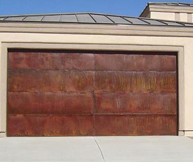 Copper Garage Doors Phoenix Az Rustic Garage Doors Garage Doors Custom Garage Doors Steel Garage Doors