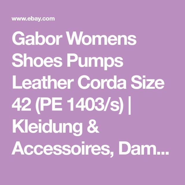 Details about Gabor Damenschuhe Pumps Leder corda Gr. 42 (PE