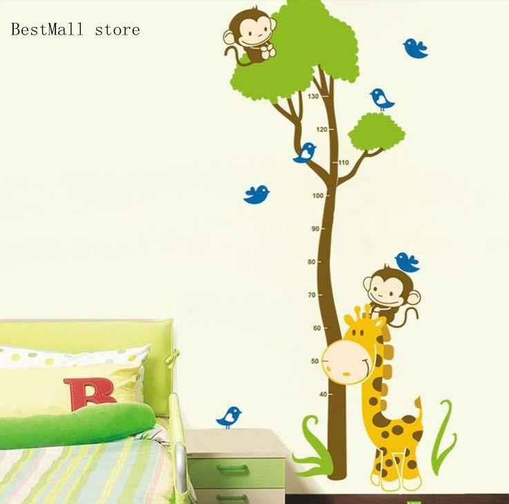 Etiqueta de la Pared Casa de las decoraciones dibujos animados Altura Medida Niños Dormitorio Tabla De Crecimiento Calcomanías