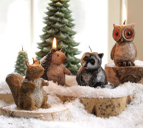 Woodland Creature Candles 11 50 Christmas Trends Christmas Table Decorations Christmas Dinner Table