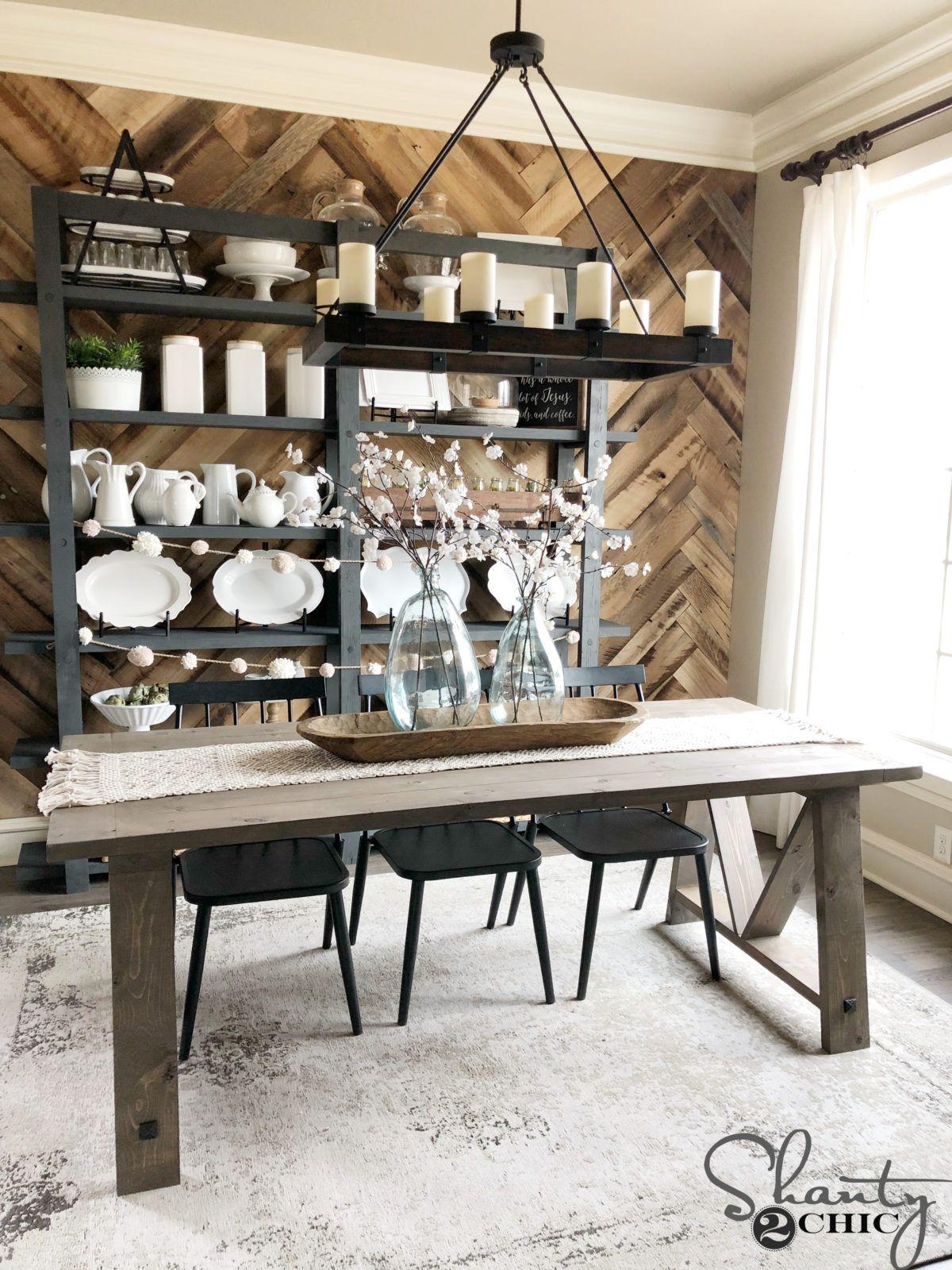 Diy Fancy V Dining Table For Under 100 Diy Dining Table Dining Table Diy Farmhouse Table