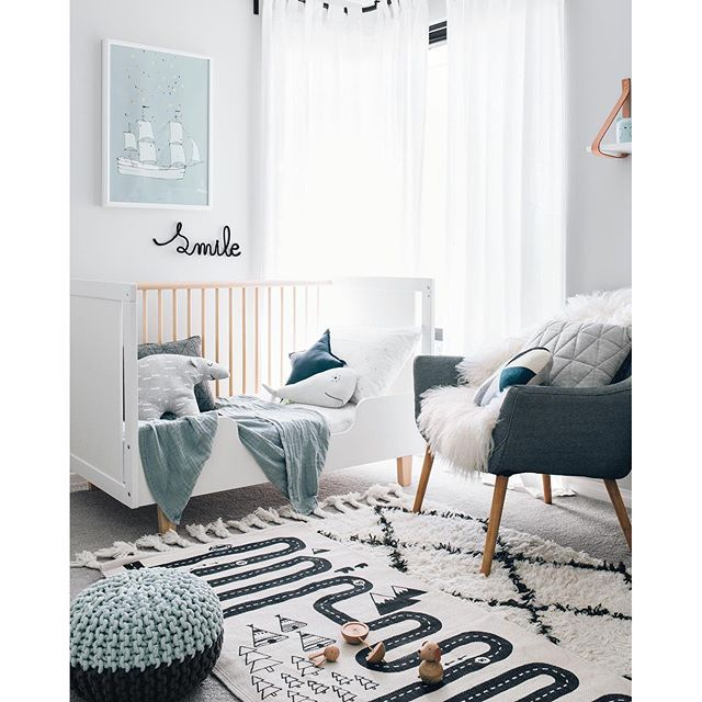 Loving These Petrol Blue And Muted Seafoam Hues Baby Rooms