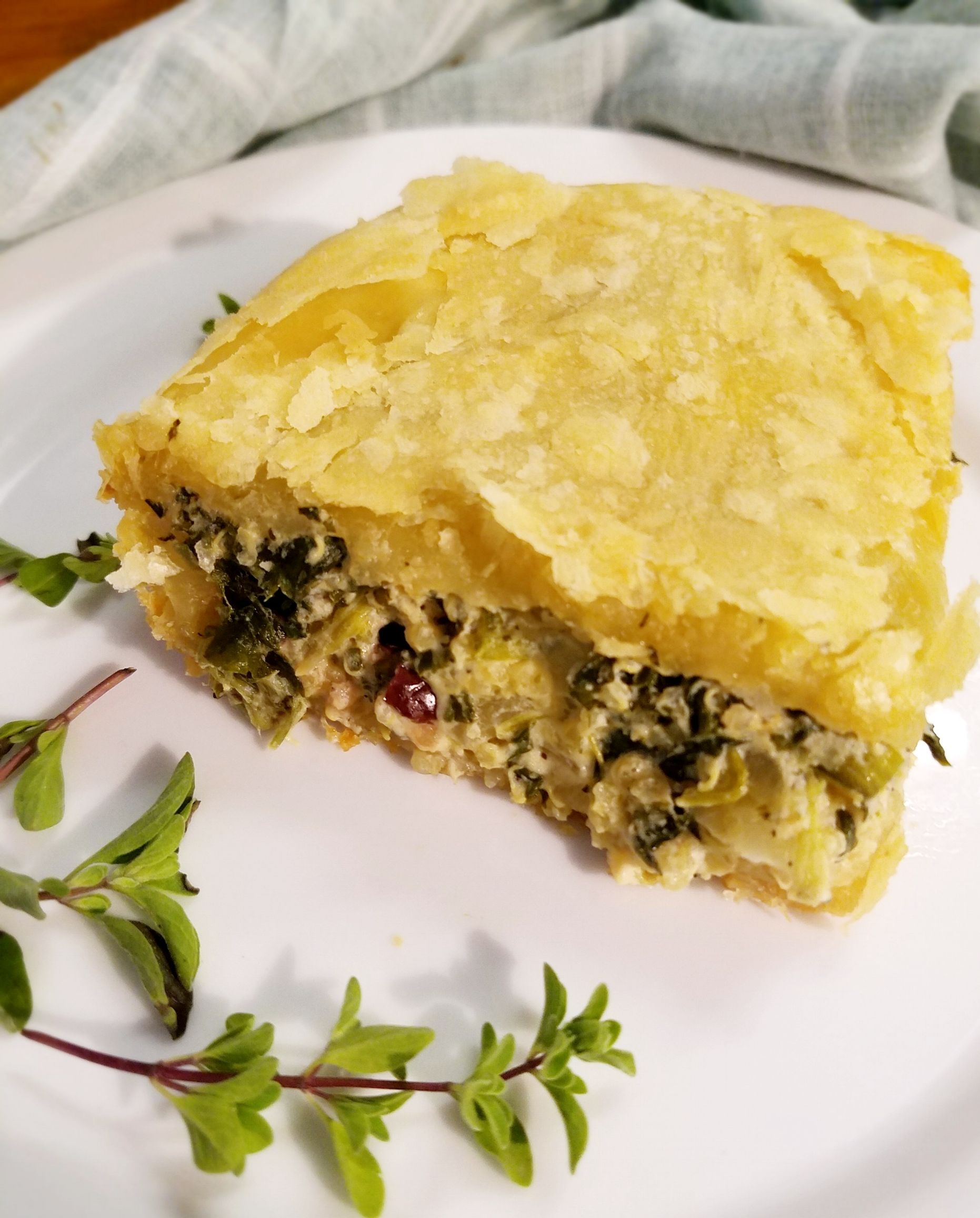 Vegan Greek Spinach Pastry Food Glorious Food Vegan