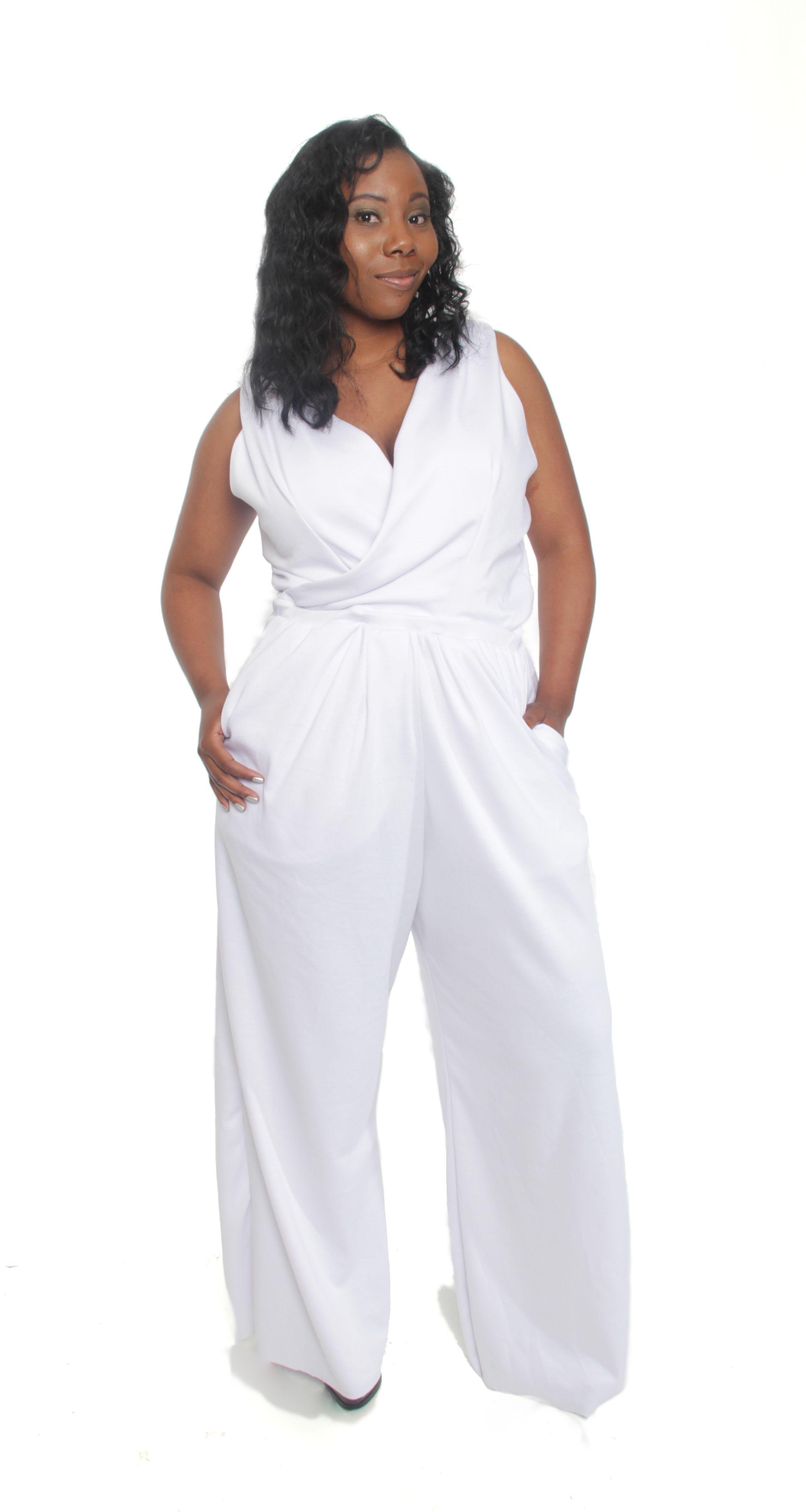 7fcddf7235c Plus SIze Jumpsuit Annette Lea | Clothes | Fashion, Plus size white ...