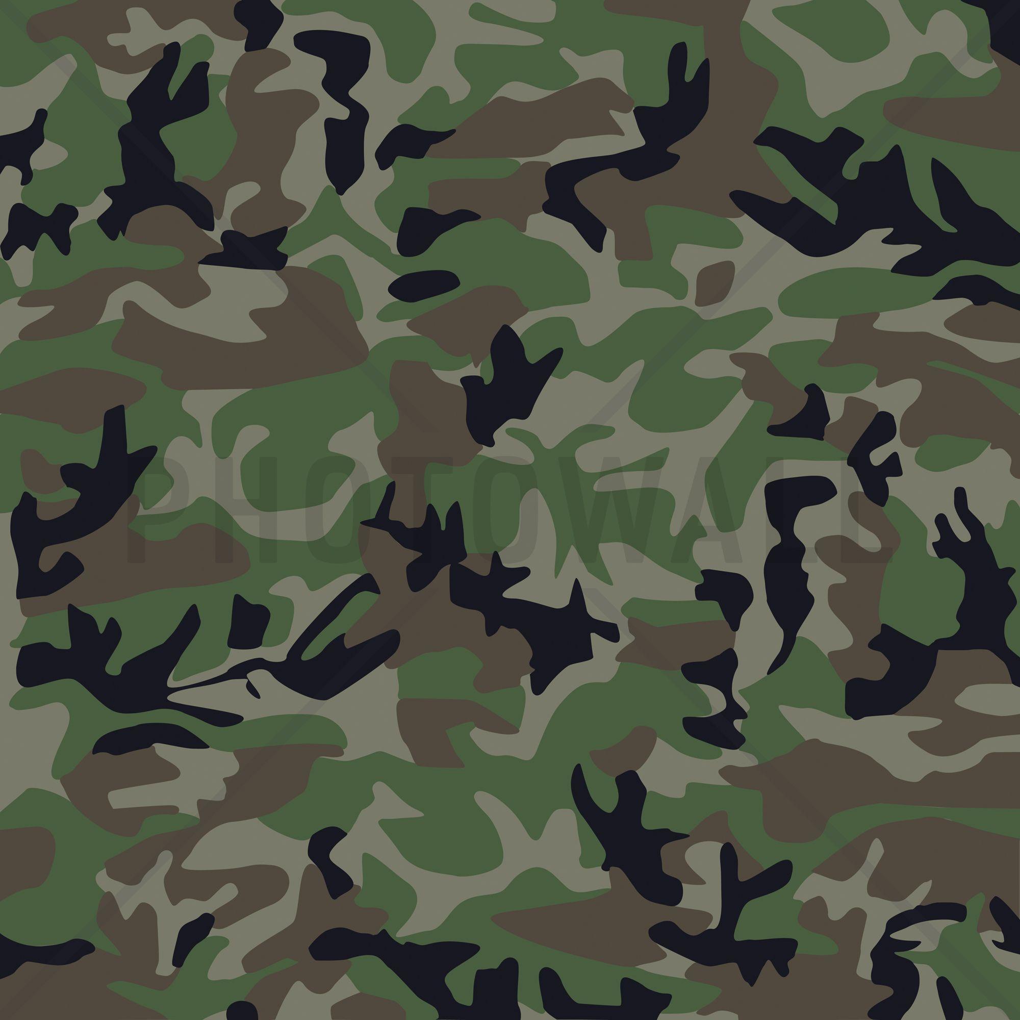 Camouflage Wall Mural & Photo Wallpaper Photowall