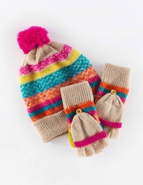 5c1cee73c Fair Isle Hat & Mittens Set   hats / czapki   Hats, Knitted hats ...