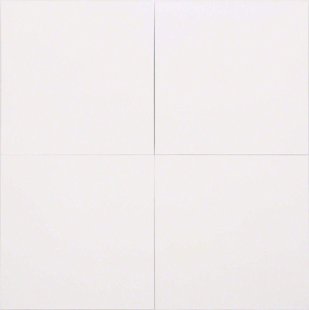 White Painting [four panel] | Robert Rauschenberg, White Painting [four panel] (1951)