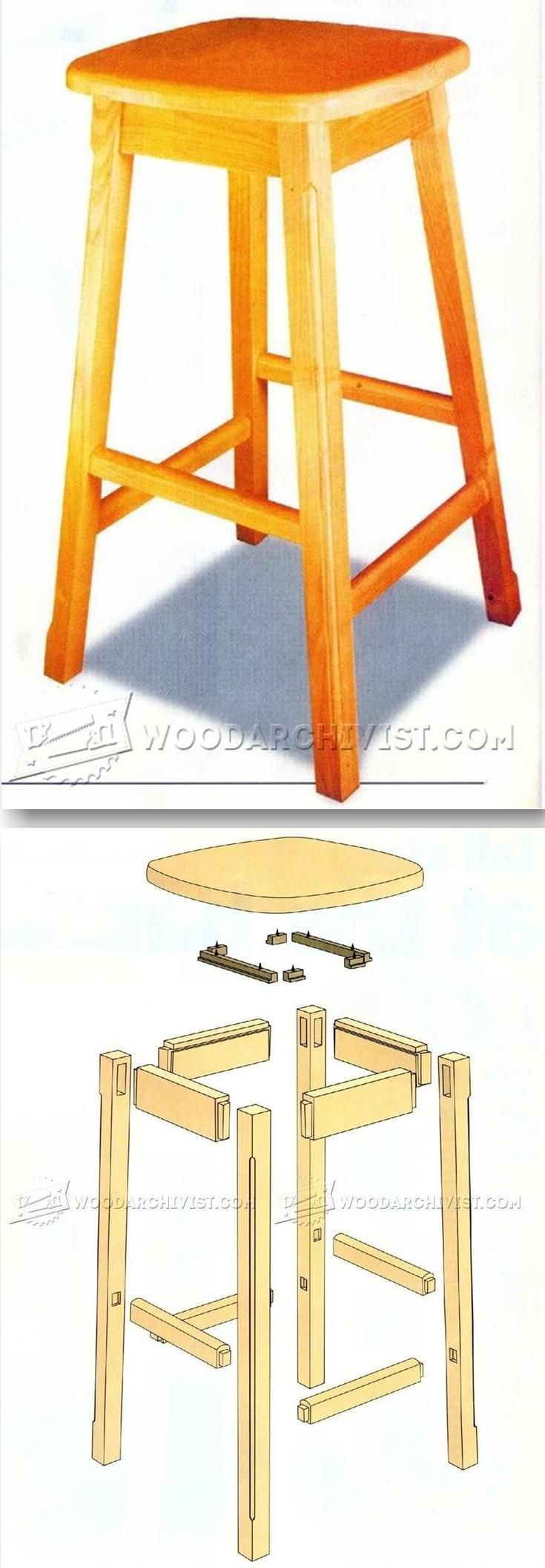 Kitchen Stool Plans - Furniture Plans and Projects | WoodArchivist ...