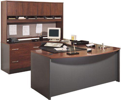 Bush Furniture Bow Front U Shaped Desk With Hutch State Farm