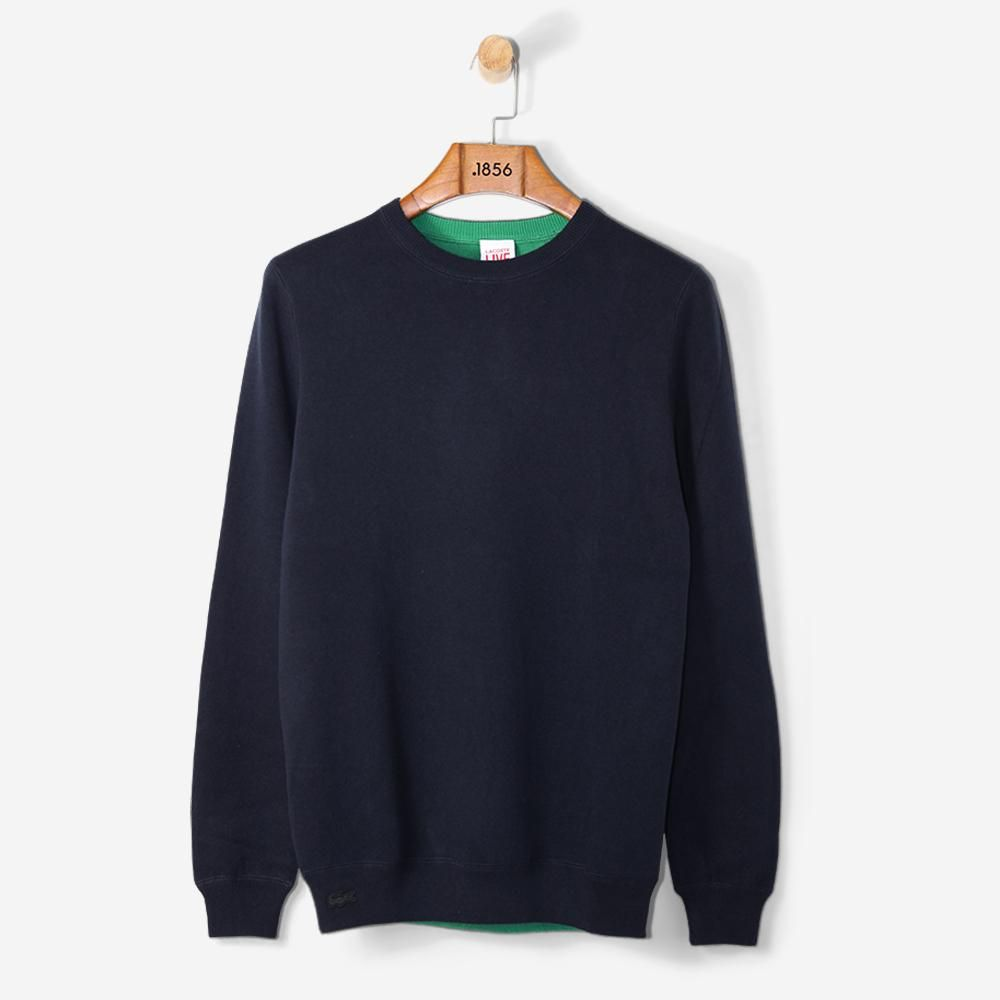 419d6d08d5 Lacoste Live Reversible Wool Jersey Sweater Navy Blue/ Coriander in ...