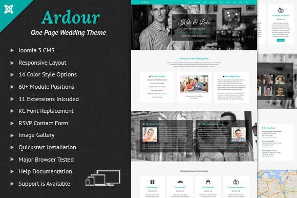 Ardour Wedding One Page Joomla Theme By Webunderdog On Creative