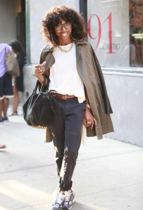 So NY, I love it. #StreetStyle #NYFW #BlackGirlsRock