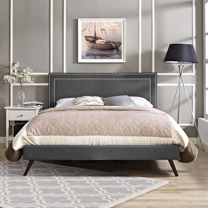 Best Veronica Full Platform Bed With Round Splayed Legs 400 x 300