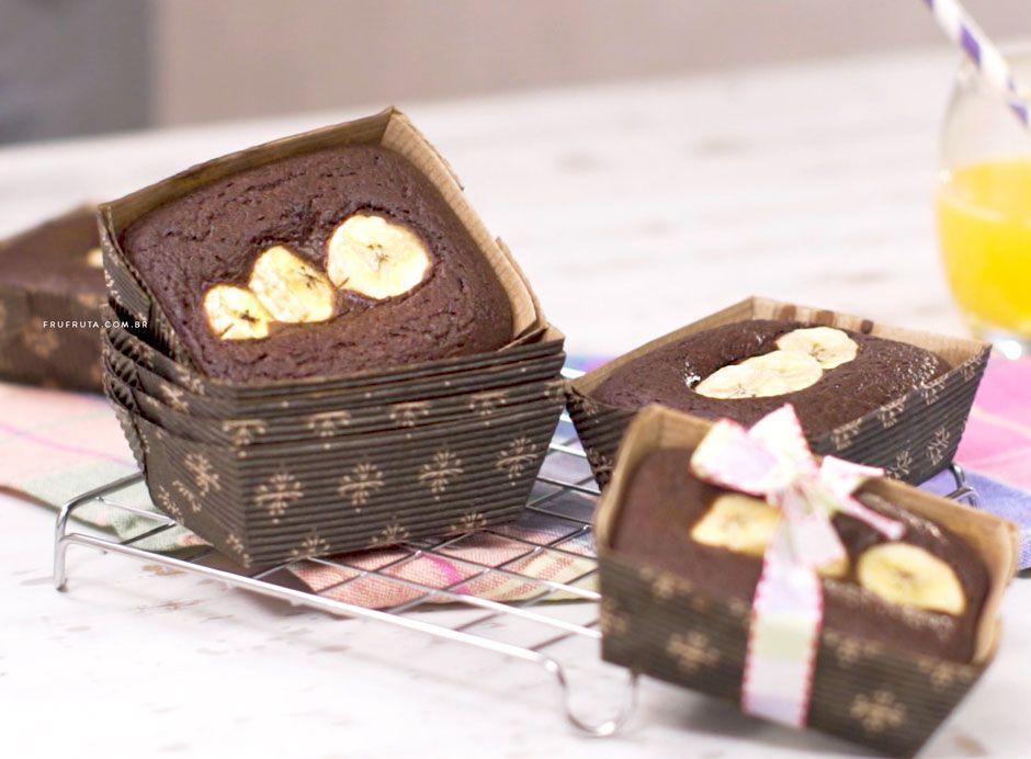 Mini Bolo De Chocolate Com Banana Sem Gluten Sem Lactose Vegano Receita Bolo De Chocolate Com Banana Mini Bolo De Chocolate E Sem Gluten