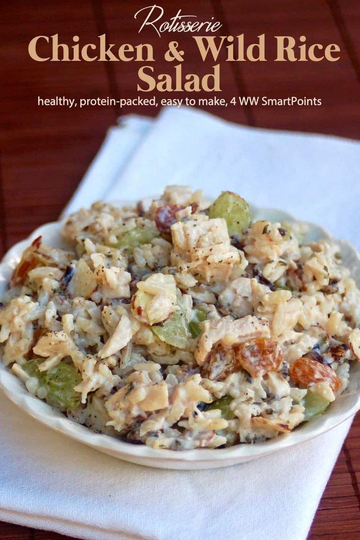 Chicken Amp Wild Rice Salad Recipe Wild Rice Salad Rice Salad Rice Salad Recipes