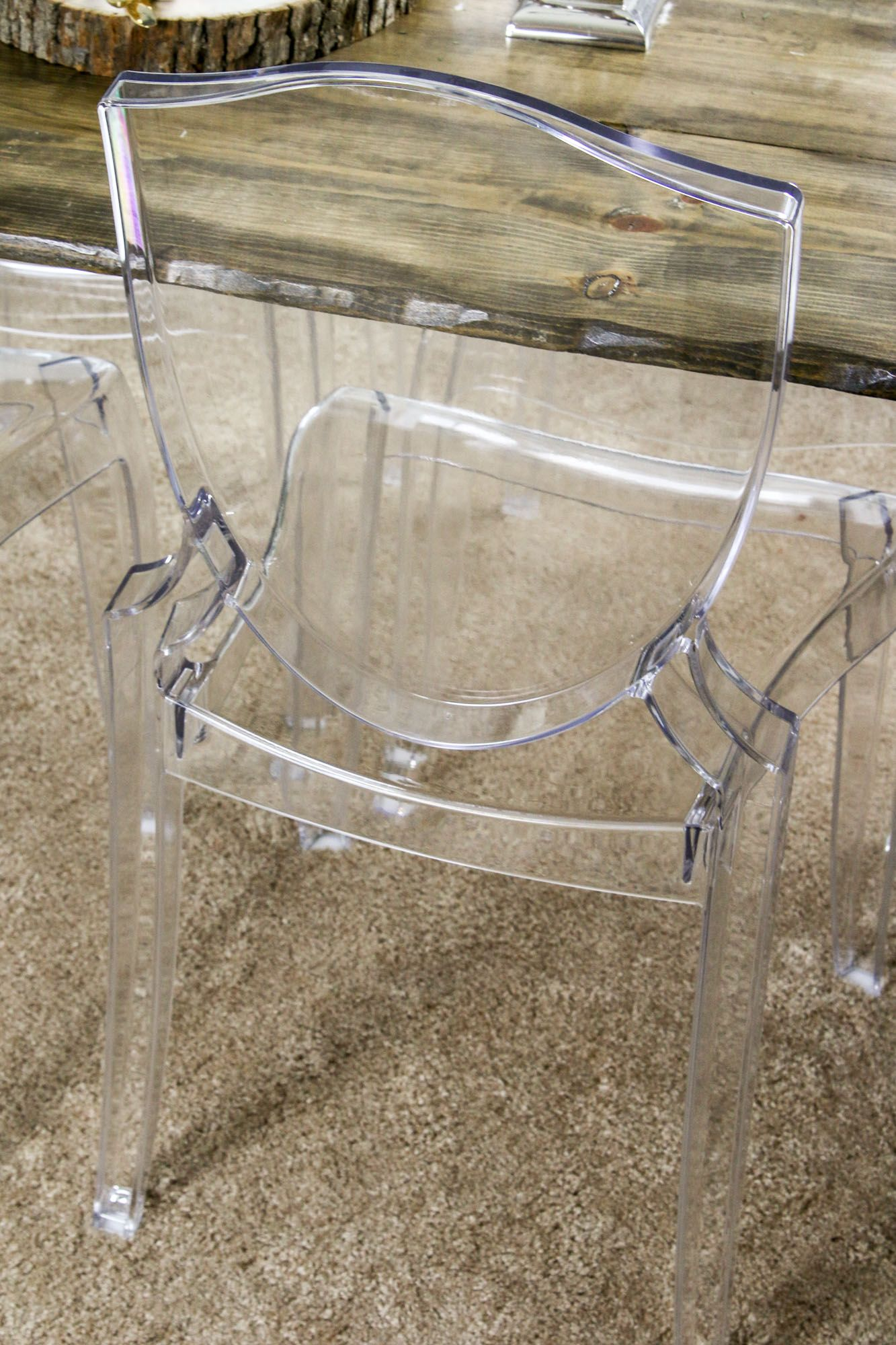 |One Room Challenge| Lucite Dining Room Chairs/ Ghost Chairs