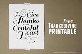 Free Thanksgiving Printable Poster @ mintedstrawberry.blogspot.com
