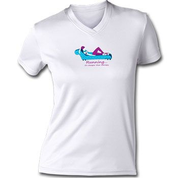 Cheaper Than Therapy Women's V-Neck Performance Tee