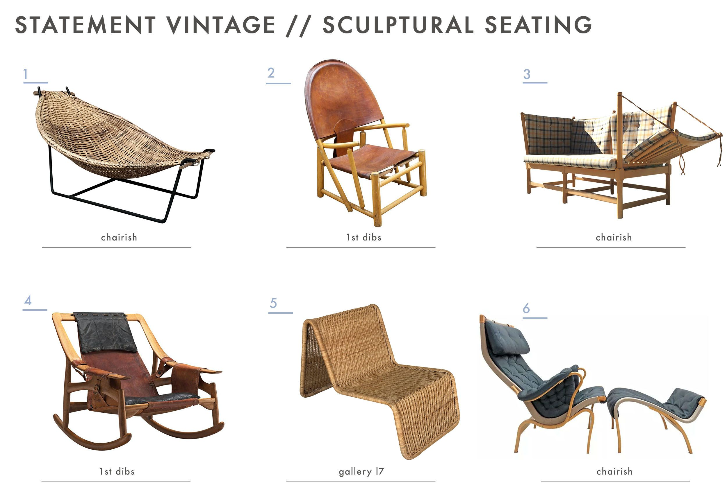 Garden Chairs Emily Henderson Mountain House Statement Vintage Seating Sculptural Home Style Interiors Homes