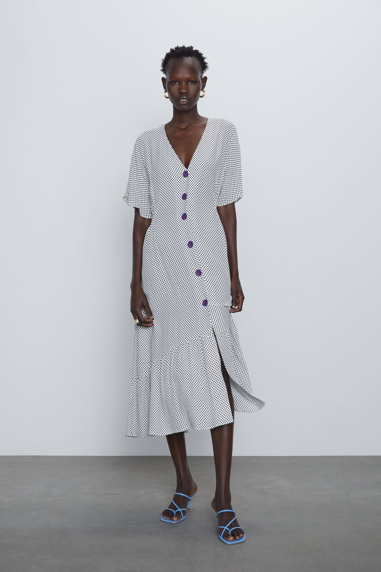 buttoned dress | zara poland in 2020 | kleider