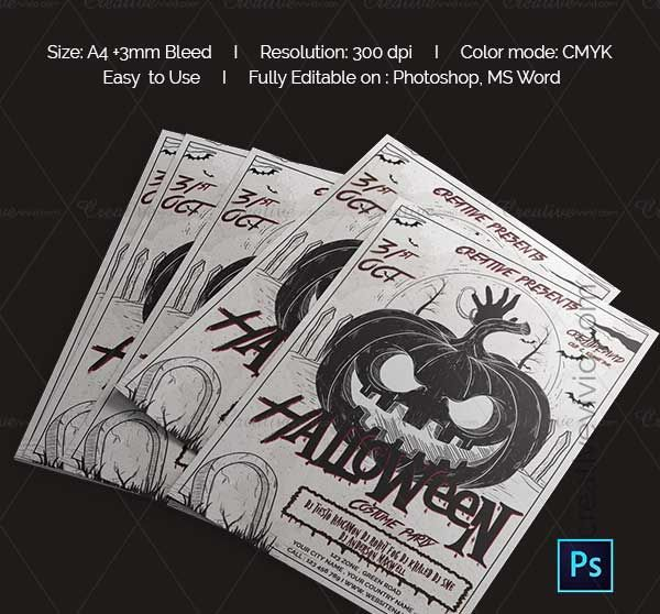 These Halloween Flyer Template beat the drums about your horror - halloween template