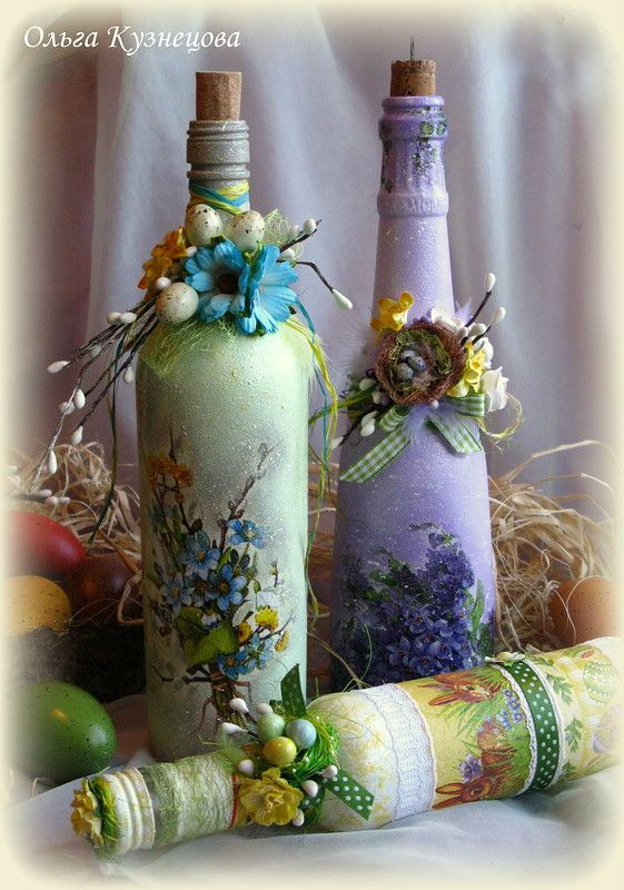 Pin de a lee en decoupage pinterest botellas for Botellas de vidrio decoradas para navidad