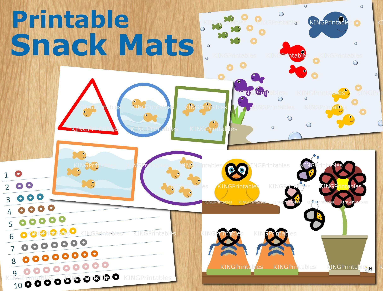 Printable Snack Mats Educational Place Mat Diy T Kids