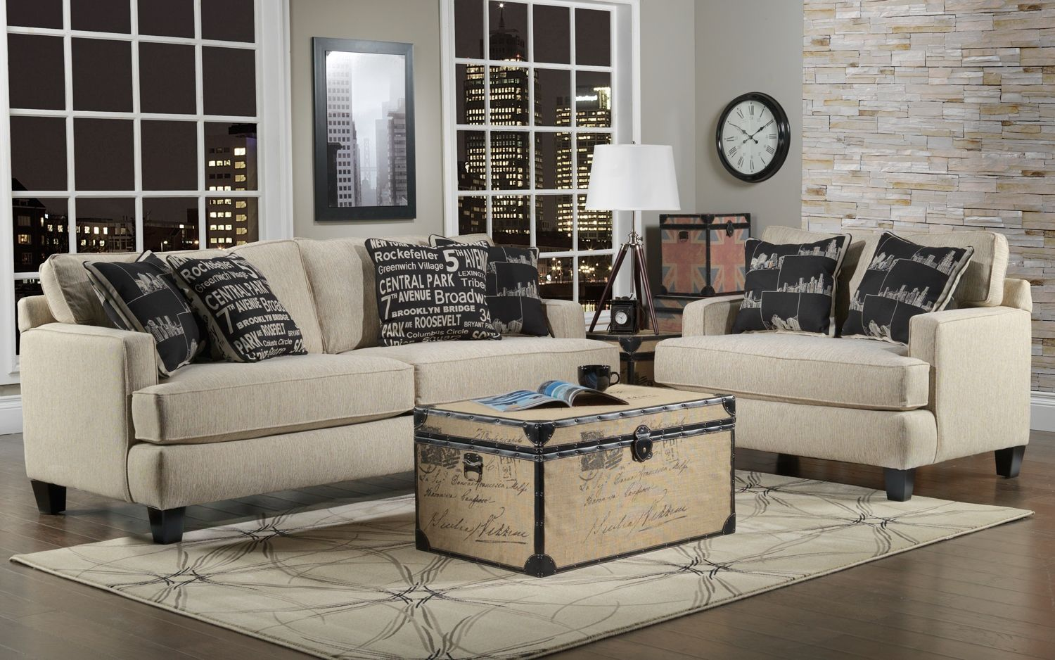 Leons Living Room Furniture The New York Collection Sofa