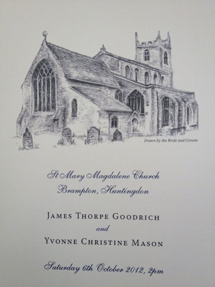 order of service wedding front cover - Google Search | Cathedral ...