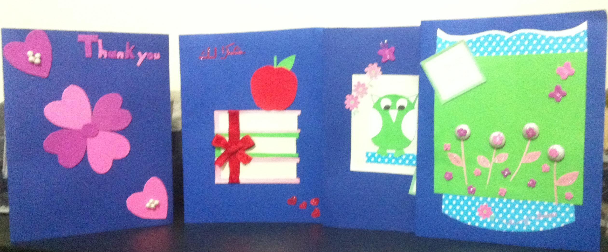 simple card for teachers day createdmy lanloun