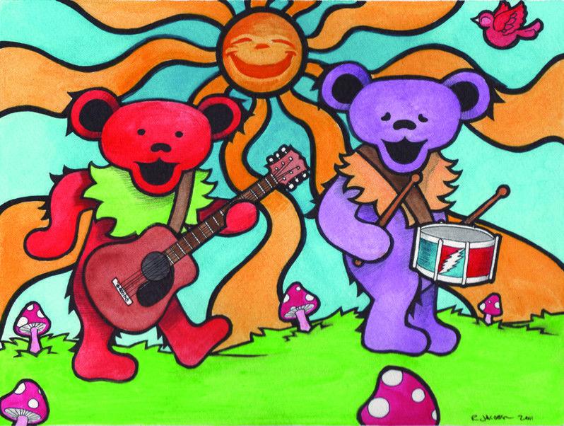 grateful dead dancing bears making music 3 dead bear