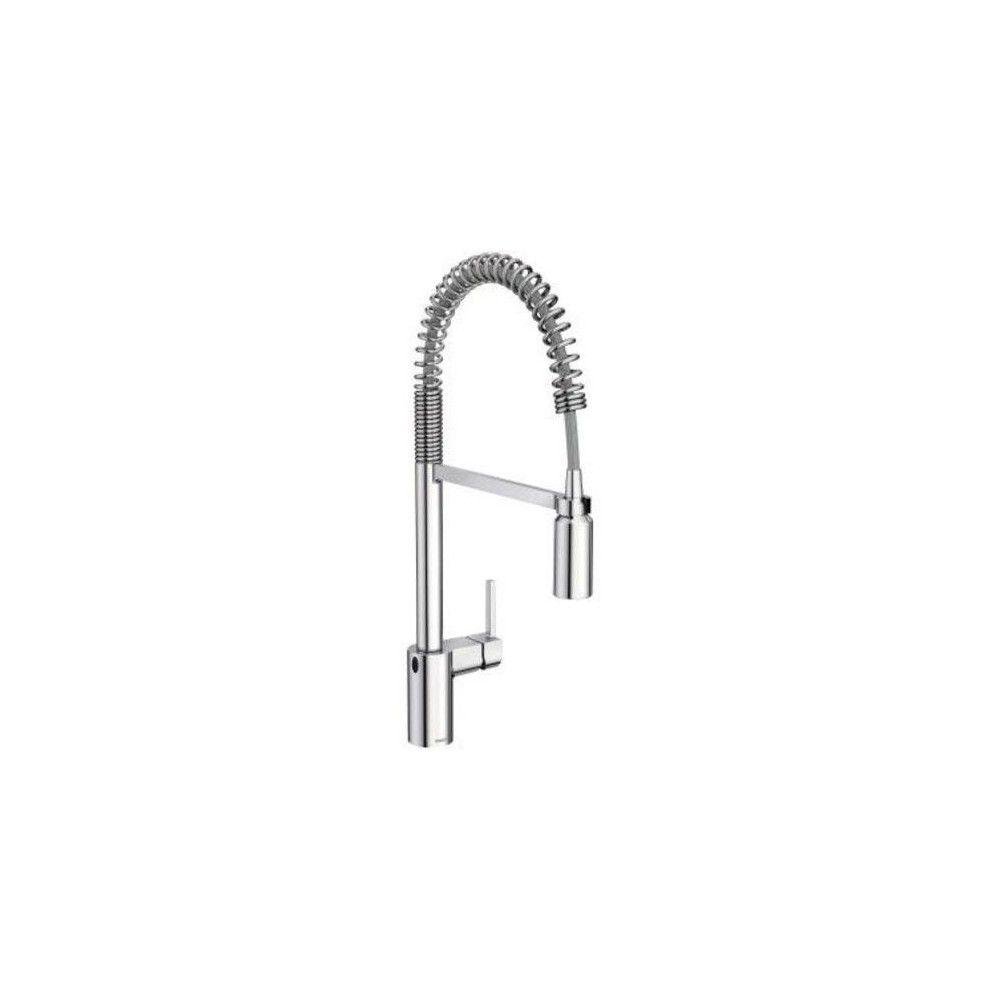 moen 5923ew align pull down spray kitchen faucet chrome grey in rh pinterest com