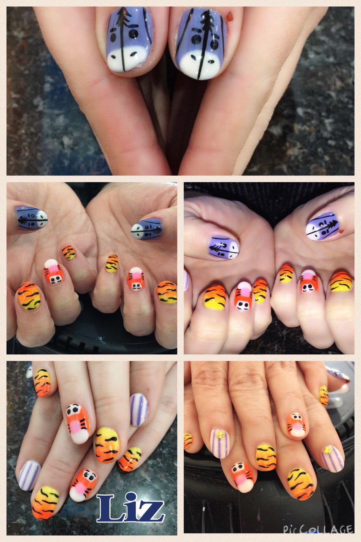 Eeyore and Tigger Nails. Chibi Disney | Nailed ON | Pinterest
