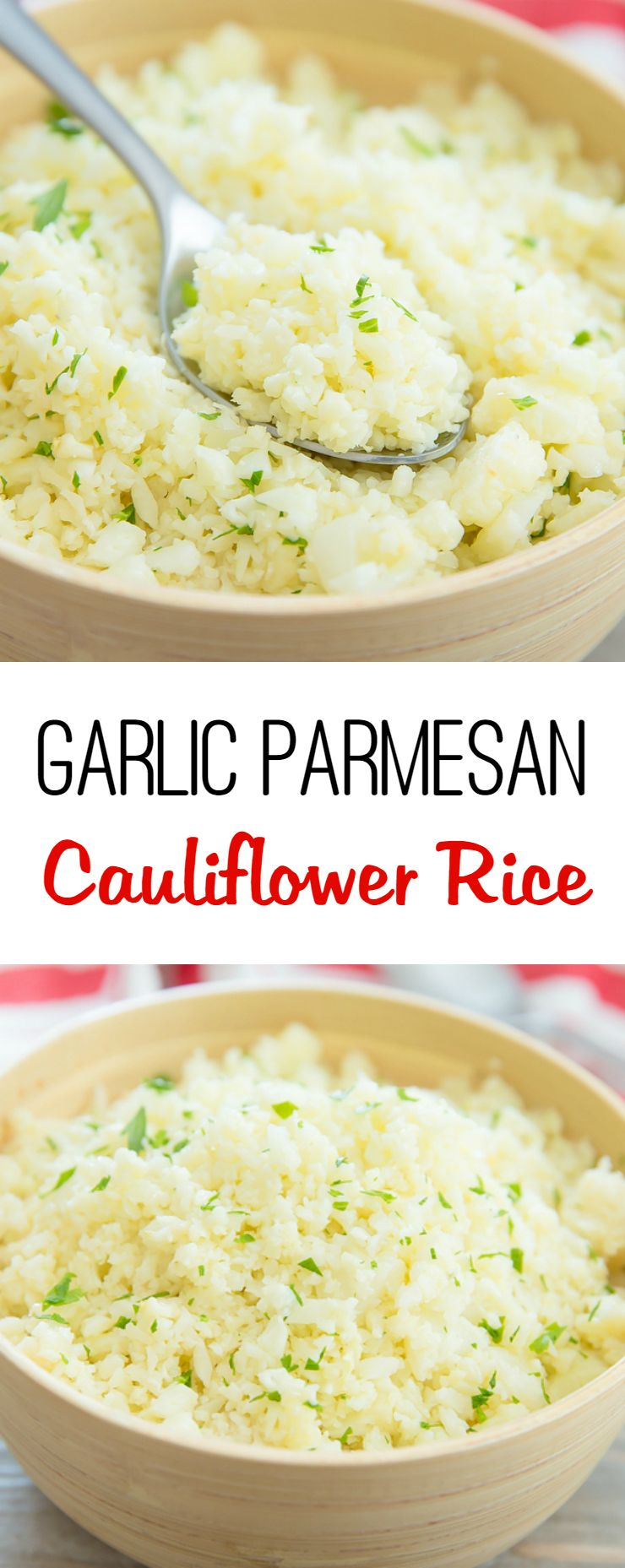 Garlic Parmesan Cauliflower Rice -   22 riced cauliflower recipes