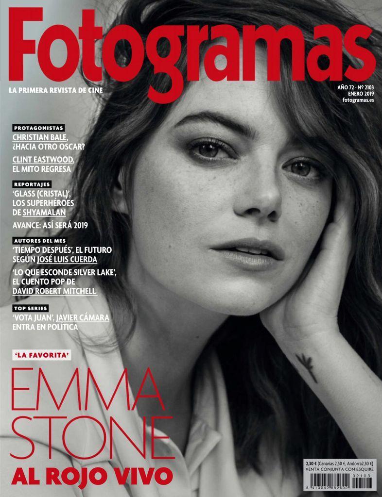 Fotogramas Back Issue Enero 2019 Digital Emma Stone Magazine Cover Magazine